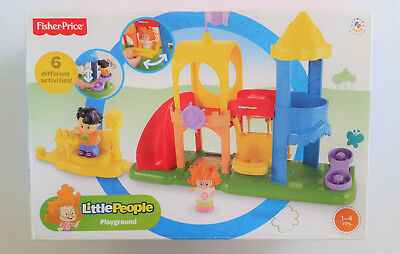 New Fisher Price Little People Playground Playset Sofie & Shopkeeper Figures