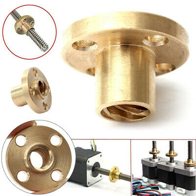 Brass Screw Nut For 8mm T8 Lead Threaded Rod CNC 3D Printer Reprap Parts Z Axis
