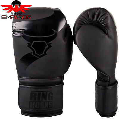 Ringhorns by Venum Boxhandschuhe Charger Black/Black,Boxen MMA Boxhandschuhe