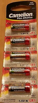 5 x Camelion LR1 N Size 1.5V Extra Long Life Batteries  (also known as LR1 E90)