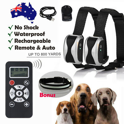 Rechargeable Electric Smart Dog Training Collar Anti Bark Remote & Auto Patterns