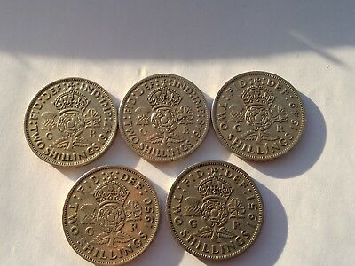 Two Shilling Coins 1947-1951