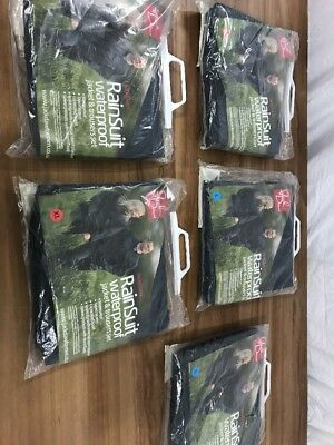 Job Lot Of Jack Daw Waterproof Jacket And Trouser Set. New