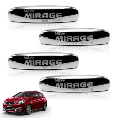 Door Handle Cover Chrome 4 Pc For Mitsubishi Mirage Space Star 12 13 14 2016 17