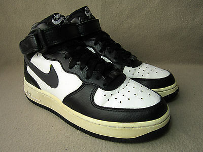 85d94481ed NIKE AIR FORCE 1 MID Junior Triple White Leather Trainers UK Size 5 ...