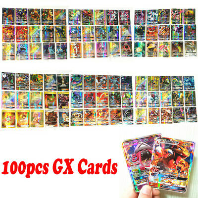 New 100pcs 2017 Pokemon Cards 100 GX Cards FLASH CARD LOT NO REPEA