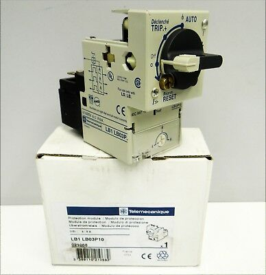 Telemecanique LB1LB03P10 021068 Protection module Überstromrelais -unused/OVP-