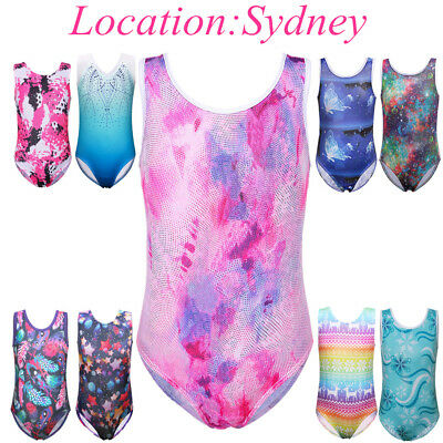 3-14Y Cute Kids Girls Ballet Leotard Gymnastics Tank Sparkle Dance Leotards