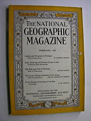 NATIONAL GEOGRAPHIC February 1938 Portugal Rise & Fall of Nanking Incas Andes