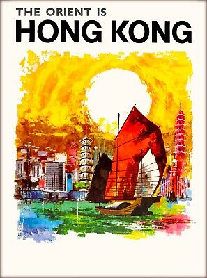 Orient is Hong Kong China Asia Asian Vintage Travel Advertisement Poster Print