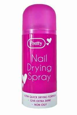 NAIL POLISH QUICK DRYING SPRAY QUICK DRY IN 60 SECONDS 150ML New