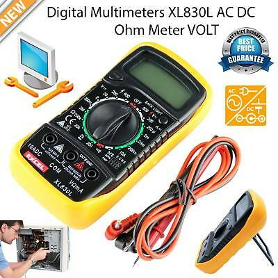 Digital Multimeter AC DC Voltmeter Ammeter OHM Circuit Checker LCD Tester Buzzer