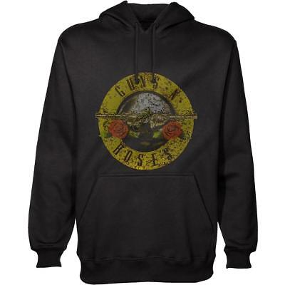 Official Licensed - Guns N Roses - Classic Logo Distressed Hoodie Slash