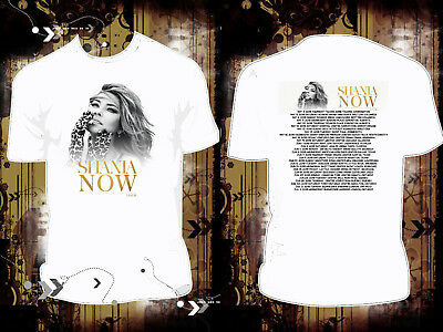 New SHANIA TWAIN NOW TOUR 2017 2018  D159 White T Shirt Hot Item Top Selling