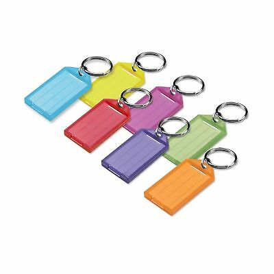 Lucky Line Key Tag With Split Ring; Assorted Colors 25 Pack (6050025)