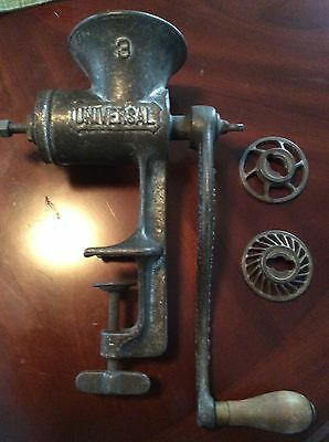 Vintage L.F.&C. Universal Food Chopper Meat Grinder No.3 HEAVY DUTY Table Mount