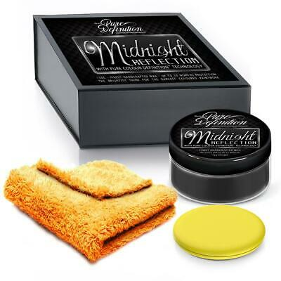 Black Car Wax Midnight Reflection High Gloss 150g Kit Pure Definition