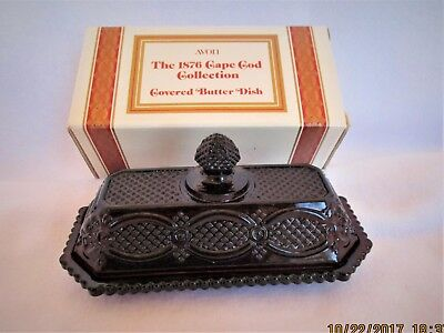 Avon 1876 Cape Cod Collection ~ Covered Butter Dish ~ Ruby Red