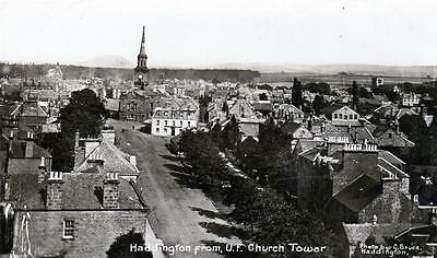 Haddington from Church Tower sepia RP old postcard used 1915 C Bruce Good cond