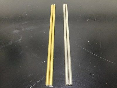 """5/32"""" Brass or Stainless Steel round rod for knife pin stock (2) 6"""" long pieces"""