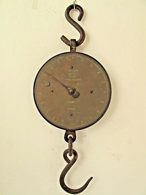 Antique Salter's 1lb.-200 lb.Hanging Scale with Hangar and Hook no. 20T