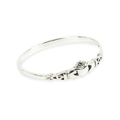 NEW Sterling Silver Claddagh Stacking Ring  in Sizes G-Z