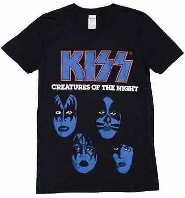 Official Licensed - Kiss - Creatures Of The Night T Shirt Rock Simmons