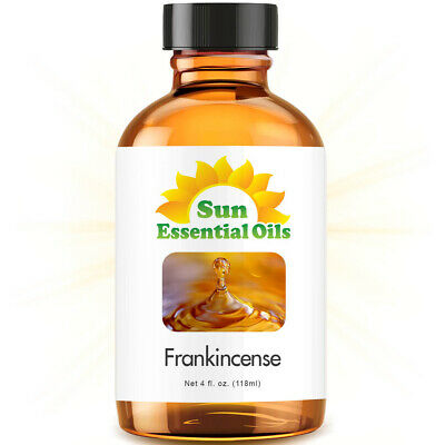 Frankincense Essential Oil (Large 4oz) 100% Pure Amber Glass Bottle + Dropper