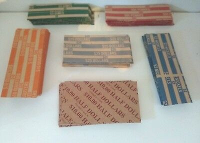(16) Flat Coin Wrappers Mixed Of .01 .05 .10 .25 Or Buy Just The Ones You Need