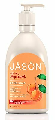 JASON Glowing Apricot Hand Soap 473ML - FREE FROM PARABEN, SLS, HARSH CHEMICALS