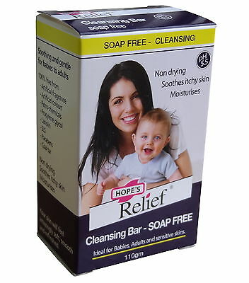 HOPE`S RELIEF SOAP FREE CLEANSING BAR 110g -IDEAL FOR BABIES AND SENSITIVE SKINS