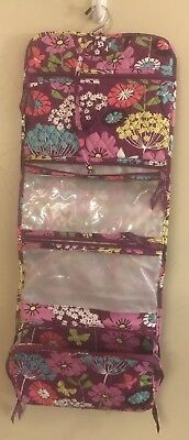 Vera Bradley Hanging Roll Up Travel Hang Up Costmetic Bag New Without Tags