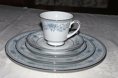 Noritake Blue Hill 2482 Place Setting 3-Plates, Cup, Saucer NEW - Never Used