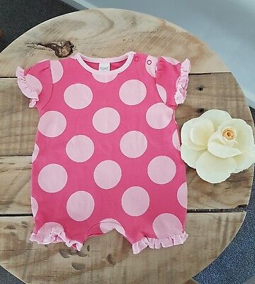 Baby Girl NEXT UK Short Sleeve Romper Jumpsuit Summer One Piece Size 000 0-3M