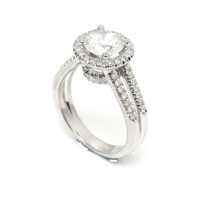 Jewelry & Watches 100% Quality Diamond Ring Solitaire Accented 1.43 Carat 18 Karat White Gold Vvs Size 4.5-9 Cheap Sales 50%