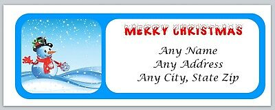 Personalized address labels Christmas Snowman Buy 3 get 1 free (xac 375)