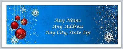 Personalized Address labels Christmas Santa & Snowmen Buy 3 get 1 free (ac 455)