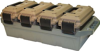 Military Grade Crate 4-Can Utility Box Stackable Multi Function Storage
