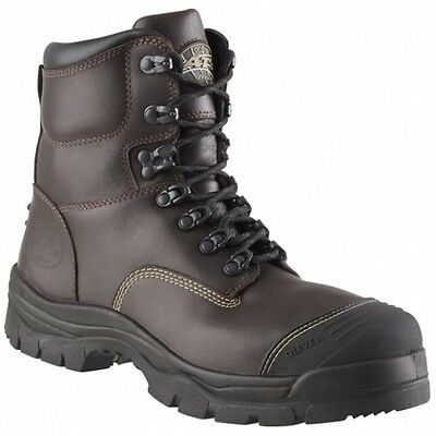 Mens OLIVER 55239 Lace Up Mid Cut Caustic Safety Boot ~ Size 7.5 ~ NEW