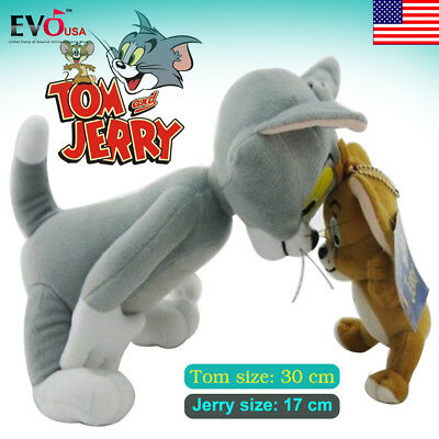 Tom and Jerry Anime Animal Stuffed Plush Doll Toy Gift Cat & Mouse Figure Cute