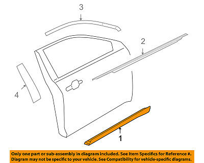 FORD OEM 10-17 Taurus Front Door-Side Molding Right AG1Z5420878AA