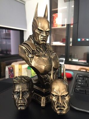 DC 1/3 Batman Arkham Knight Bust Statue With Three Heads 3 Color In Stock