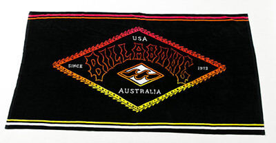 New Billabong Re-Issue Extra Large Beach Towel Black Summer Holiday 190*110CM