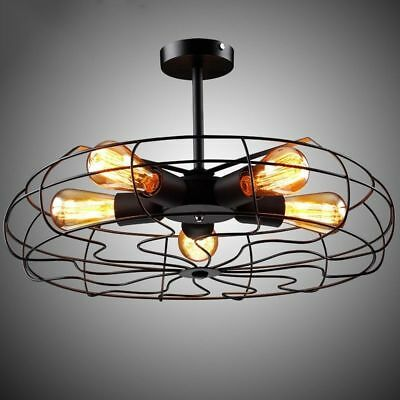 Industrial Vintage Retro Iron Ceiling Pendant Lamp Chandelier Decor Light Shade