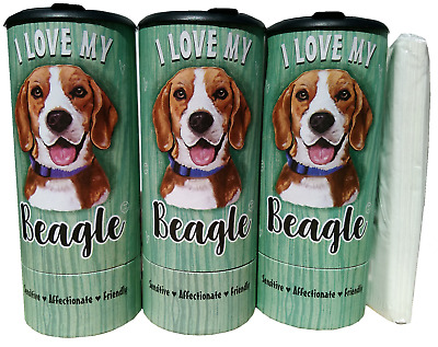 I Love my Beagle(85002) Refillable Tissue Tube with 1 Refill package
