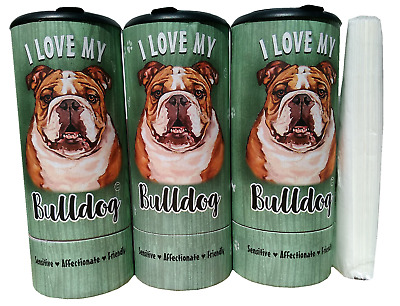 I Love my Bulldog(85005) Refillable Tissue Tube with 1 Refill package