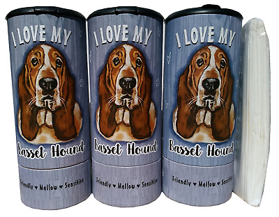 I Love my Golden Retriever(85007) Refillable Tissue Tube with 1 Refill package