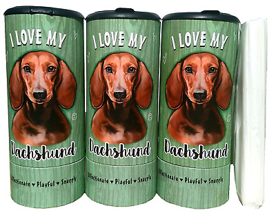 I Love my Dachshund Red(85012) Refillable Tissue Tube with 1 Refill package