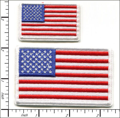 20 Pcs Embroidered Iron on patches National Flag USA AP051aC
