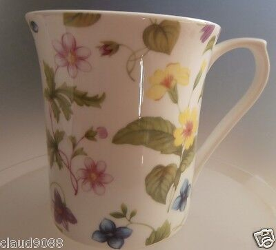 """Queens  Fine Bone China 7 Oz Mug   """"country Meadow""""  Clsq00131 Gift Boxed"""
